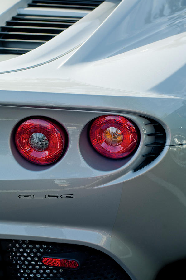 Lotus Elise Photograph - Lotus Elise Taillight by Jill Reger