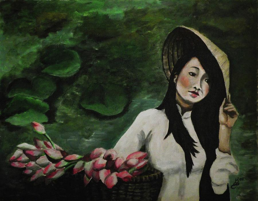Acrylic Painting Painting - Lotus by Kim Selig