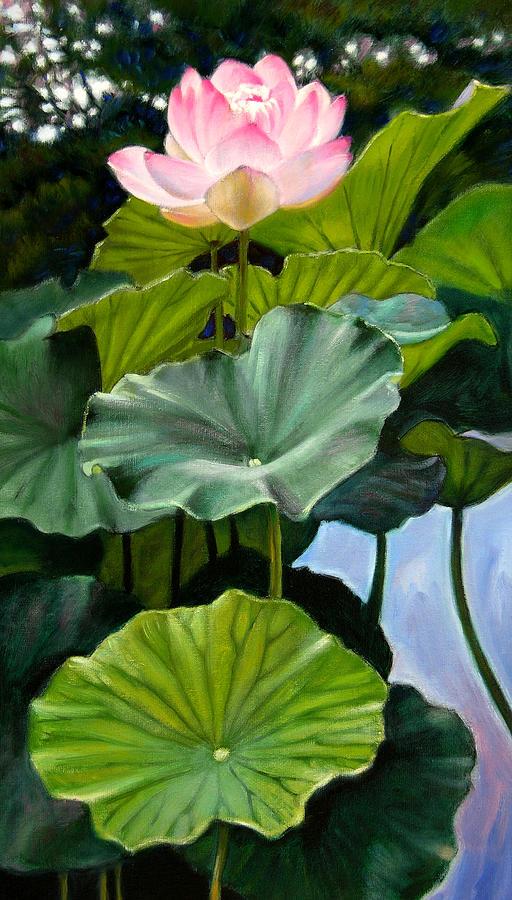 Lotus Flower Painting - Lotus Rising by John Lautermilch