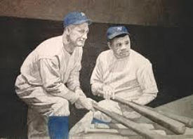 Figurative Drawing - Lou And The Babe by Eric Black