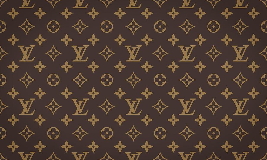 Louis Vuitton Texture Digital Art By Taylan Apukovska
