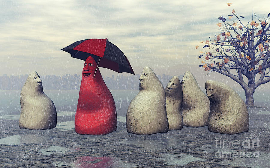 3d Digital Art - Lousy Weather by Jutta Maria Pusl