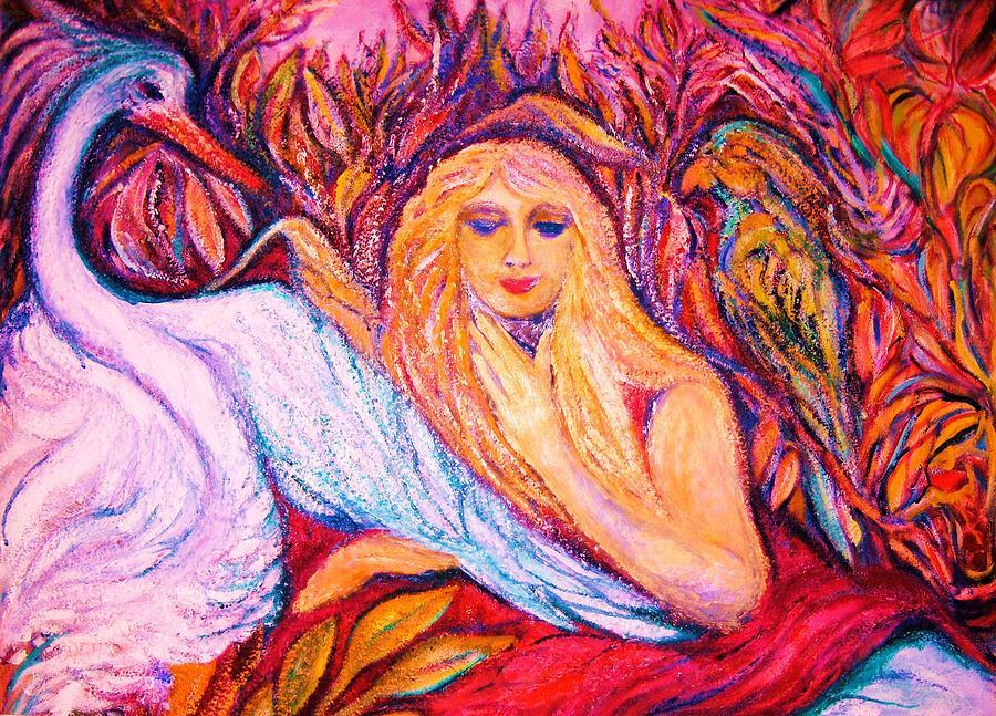 Love Birds  2  -  Art Deco Painting