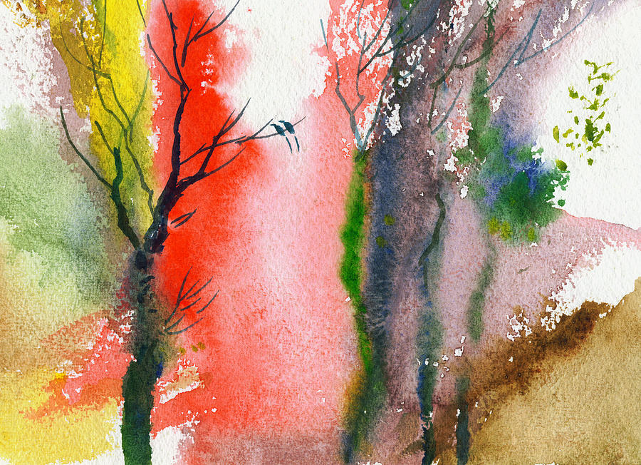 Landscape Painting - Love Birds 2 by Anil Nene
