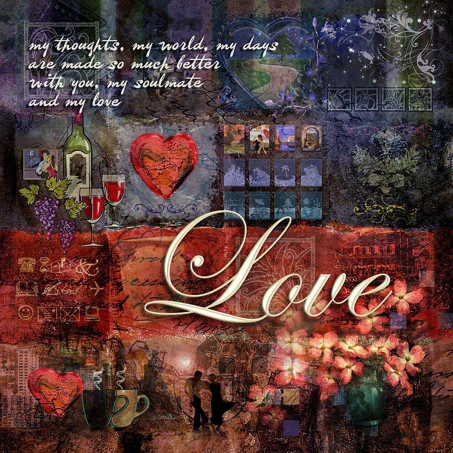 Heart Digital Art - Love by Evie Cook