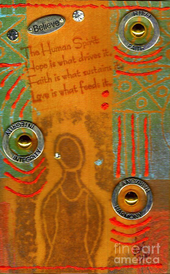 Woman Mixed Media - Love Feeds The Human Spirit by Angela L Walker