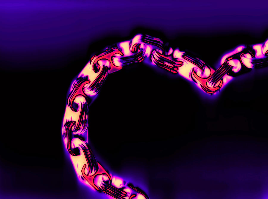 Scan Photograph - Love Glows Strong by Dolly Mohr