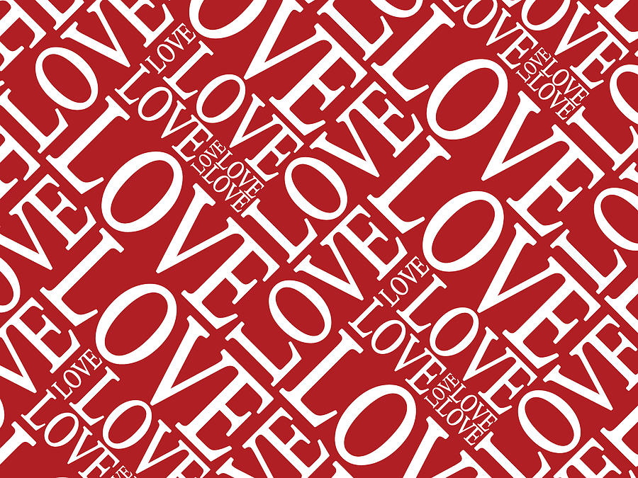 Love Digital Art - Love In Red by Michael Tompsett