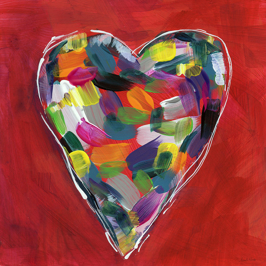Love Is Colorful - Art By Linda Woods Painting