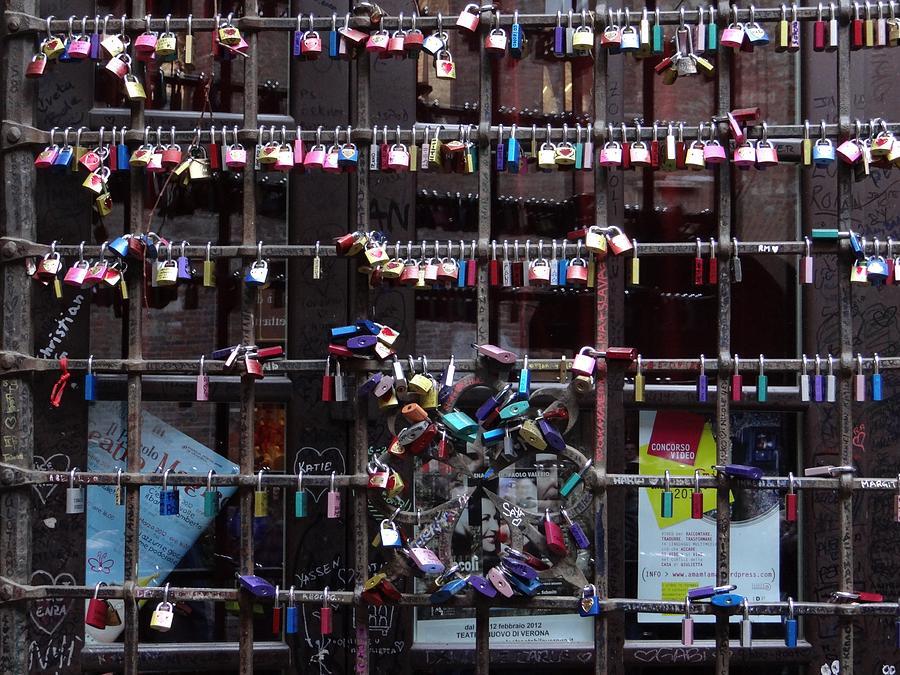 Padlocks Photograph - Love Locks At Juliets House by Keith Stokes