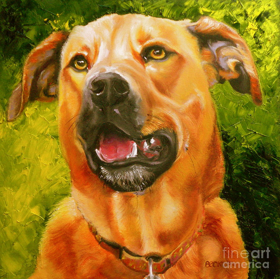Dogs Painting - Love Love Me Do by Susan A Becker