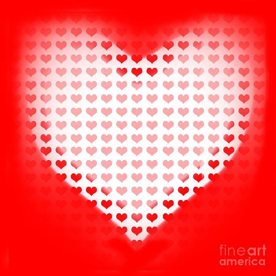 Love Of Valentines Background. Big Red Heart Photograph