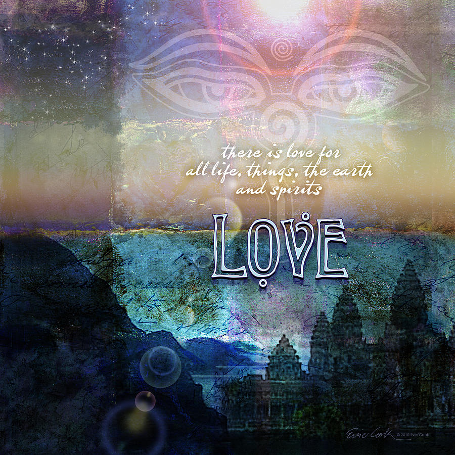 Eyes Of Buddha Photograph - Love Spiritual by Evie Cook