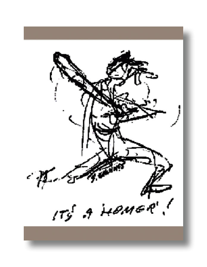 Baseball Drawing - Love Sports 2 by Sam Chinkes