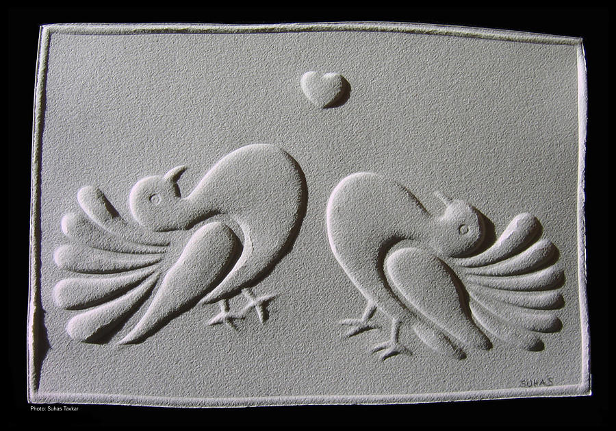 Reliefs On Paper Relief - Love by Suhas Tavkar