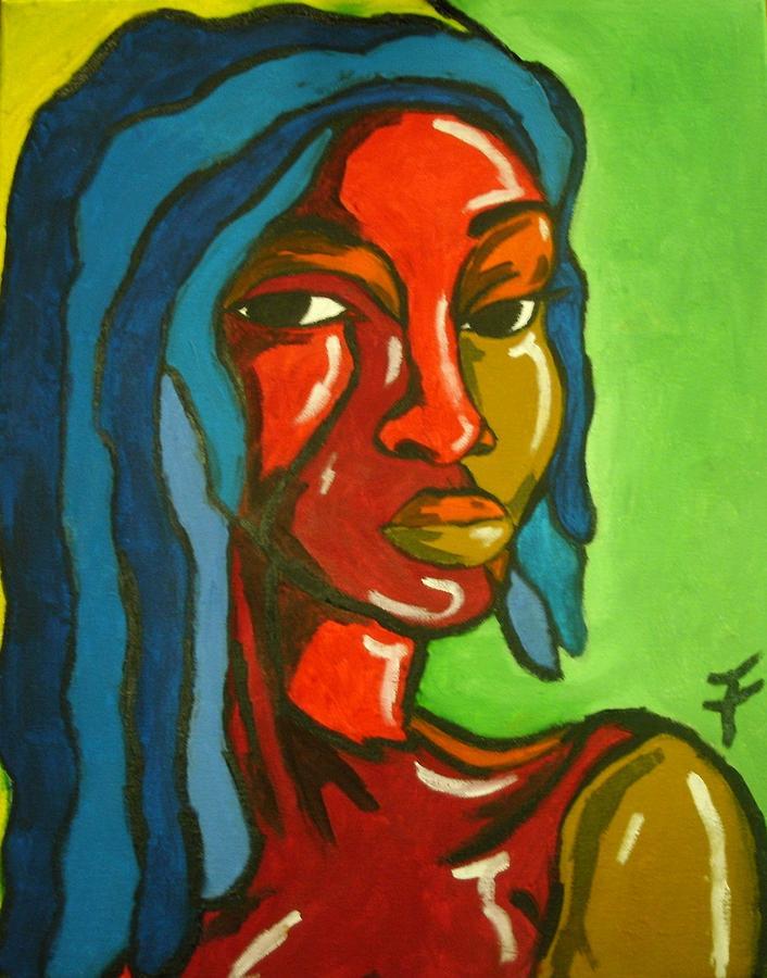 Lovely Painting - Lovely by Jason JaFleu Fleurant