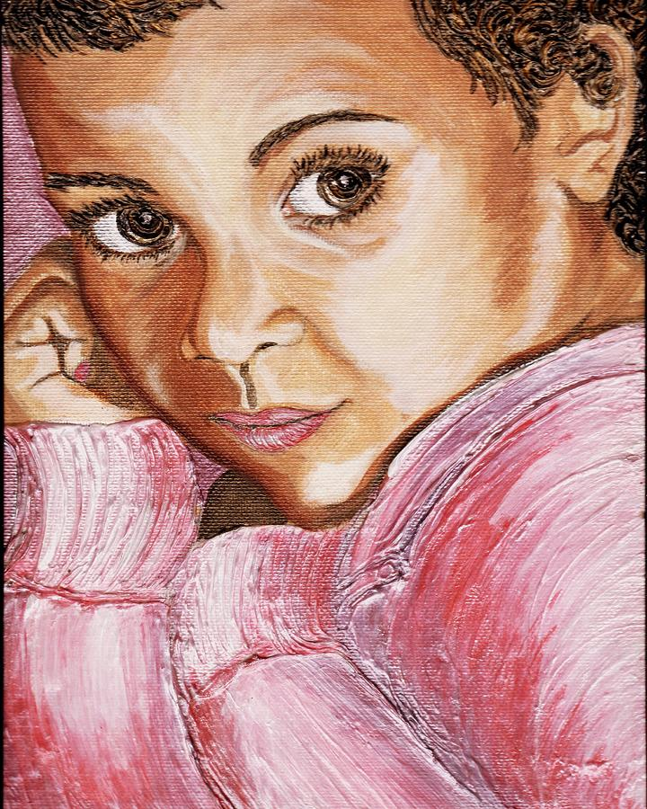 Portrait Painting - Lovely by Keenya  Woods