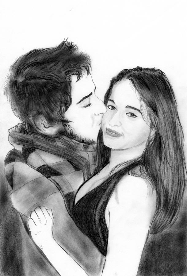 Lovers Sketch Drawing
