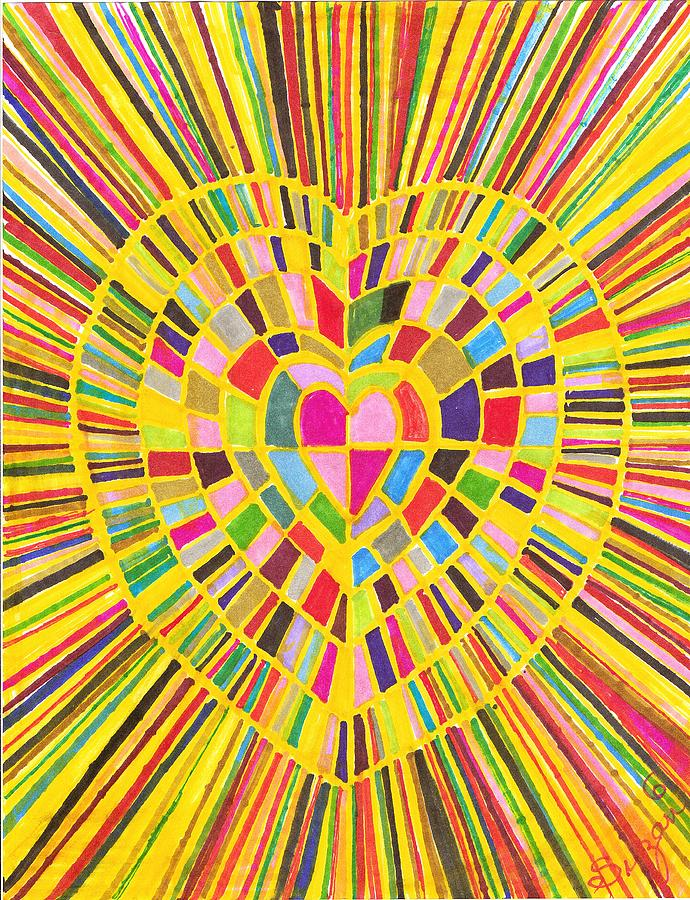 Abstract Drawing - Loveshine by Brenda Adams