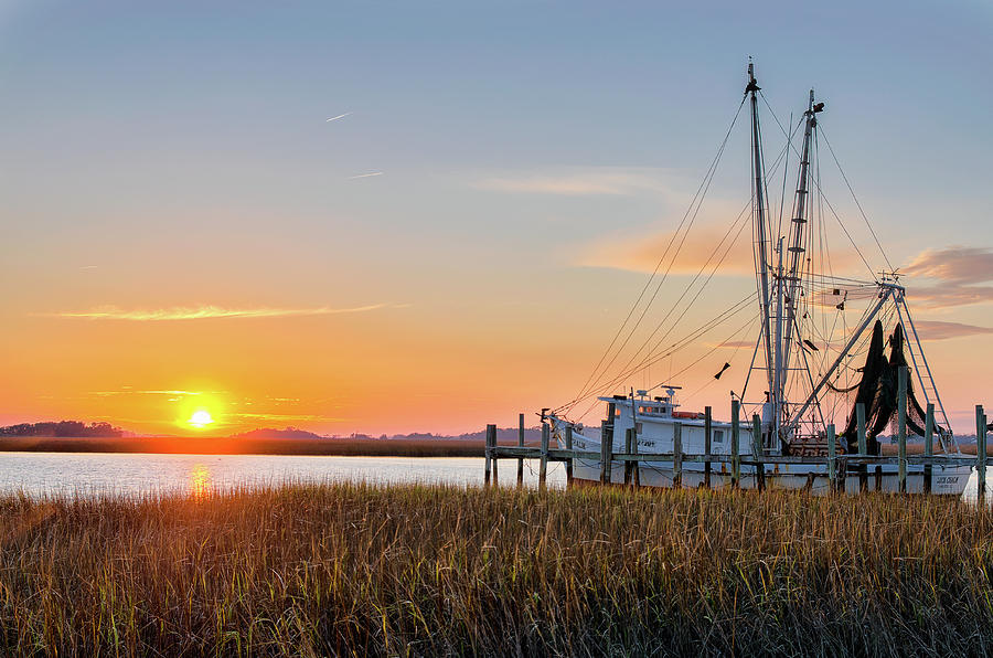 Abandoned Photograph - Lowcountry Sunset by Drew Castelhano