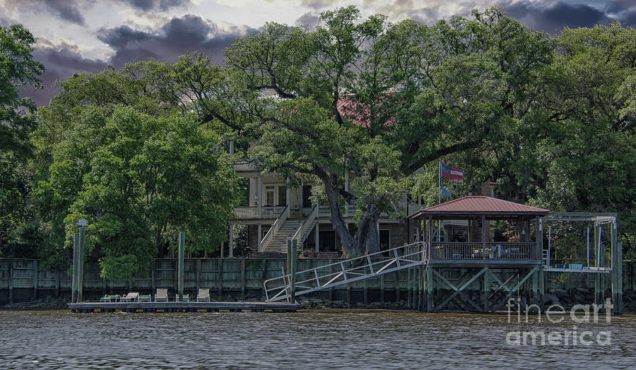 Lowcountry Water Front Home On The Wando River In Charleston South Carolina Photograph