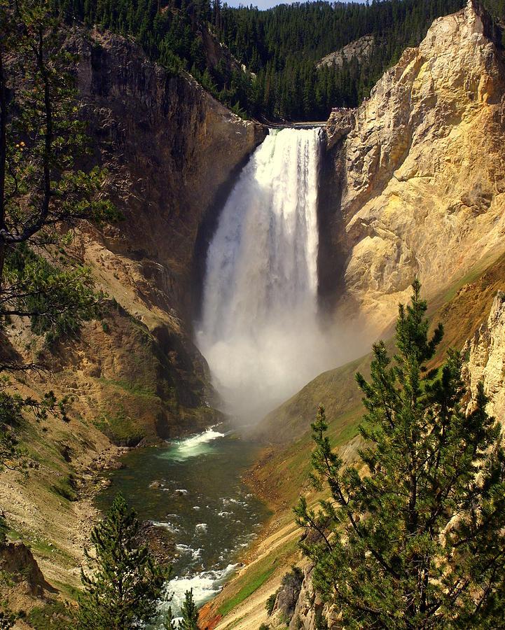 Waterfall Photograph - Lower Falls by Marty Koch