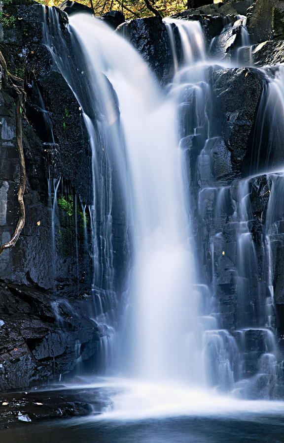 Boundary Waters Canoe Area Wilderness Photograph - Lower Johnson Falls 3 by Larry Ricker