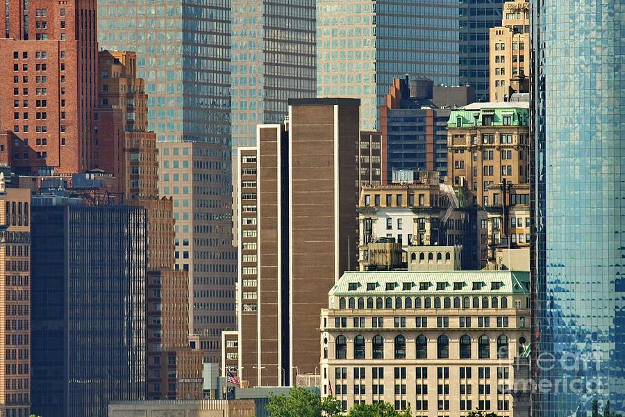 New York Photograph - Lower Manhattan Closeup by Tom Cheatham