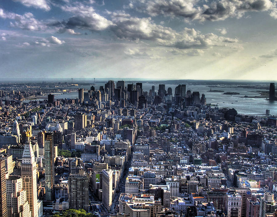 Lower Manhattan From Empire State Building Photograph