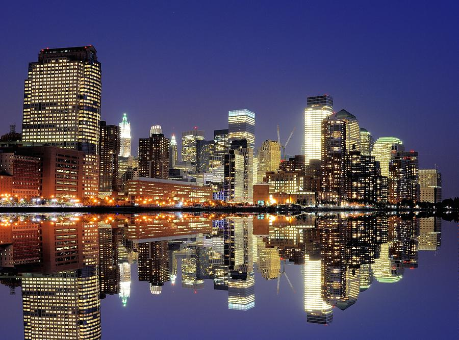 Horizontal Photograph - Lower Manhattan Skyline by Sean Pavone