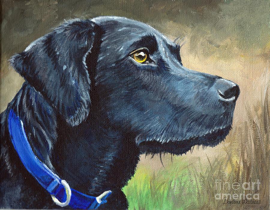 Black Lab Painting - Loyalty by Darlene Watters