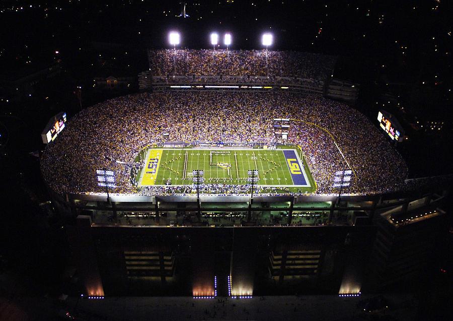 Louisiana State University Photograph - Lsu Aerial View Of Tiger Stadium by Louisiana State University