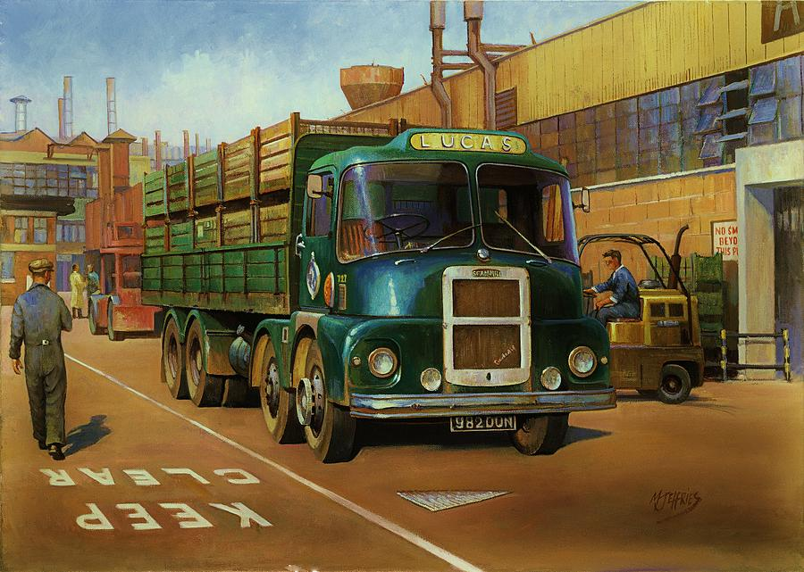 original For Sale Painting - Lucas Scammell Routeman I by Mike  Jeffries