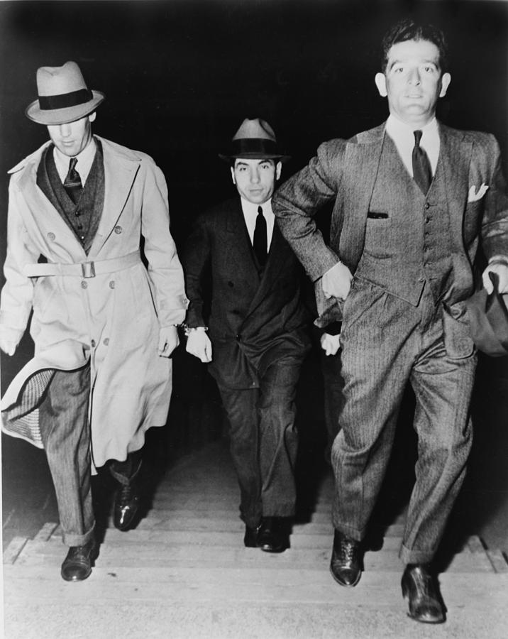 History Photograph - Lucky Luciano 1896-1962, Being Escorted by Everett
