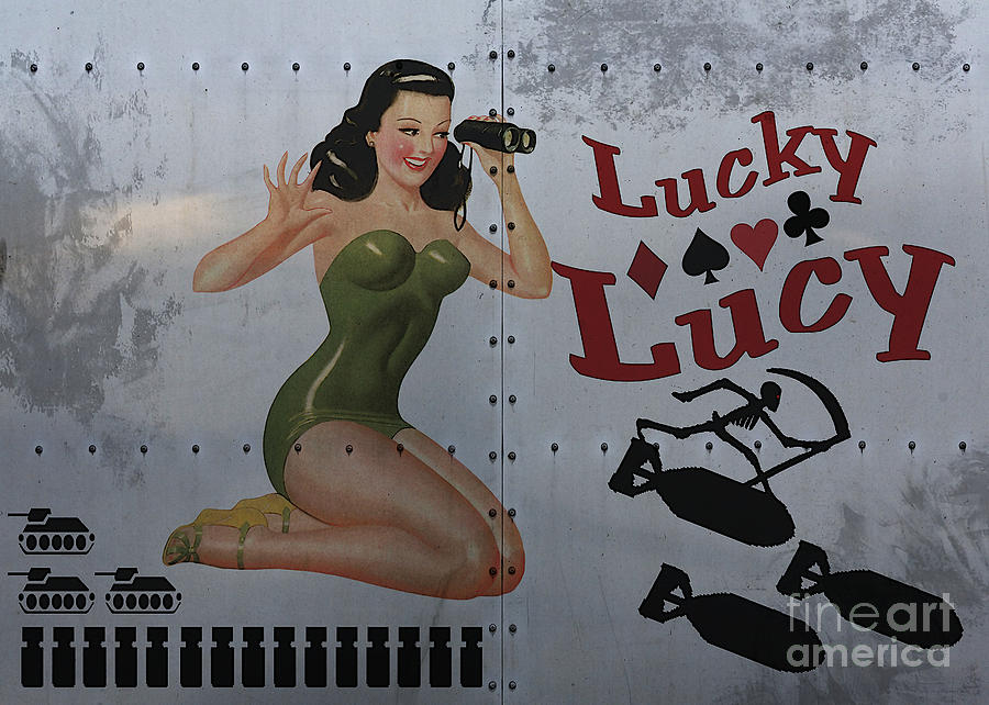 Noseart Painting - Lucky Lucy Noseart by Cinema Photography