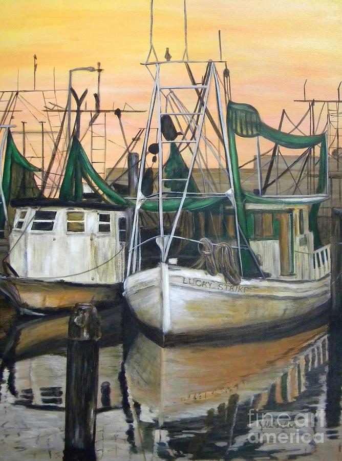 Boat Painting - Lucky Strike by JoAnn Wheeler