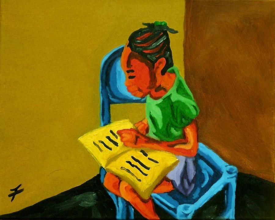 Haiti Painting - Ludya by Jason JaFleu Fleurant