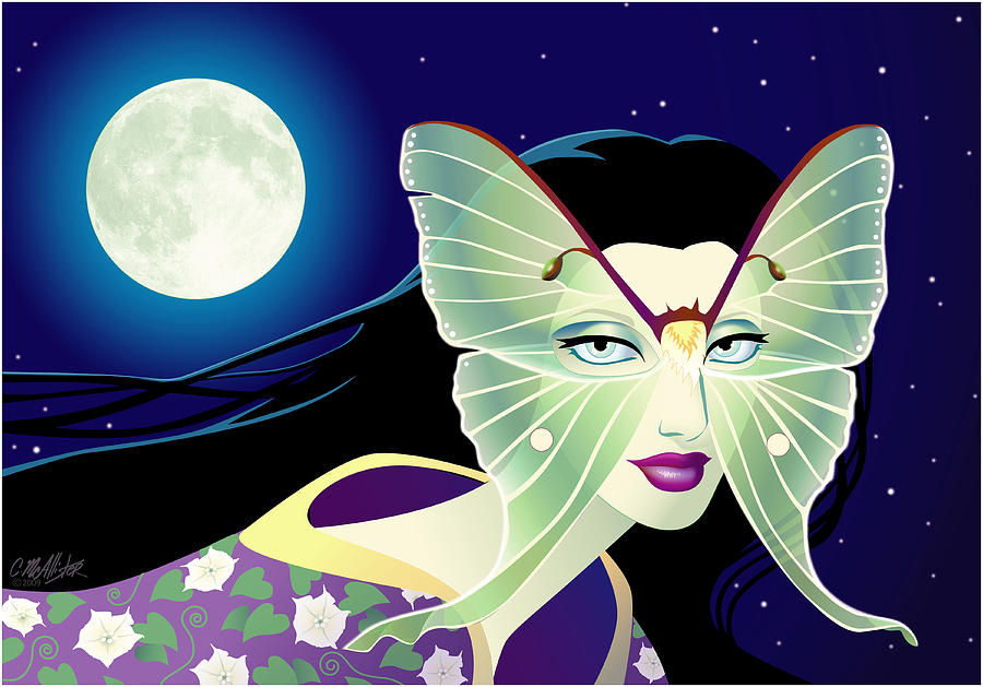 Butterfly Digital Art - Luna by Cristina McAllister