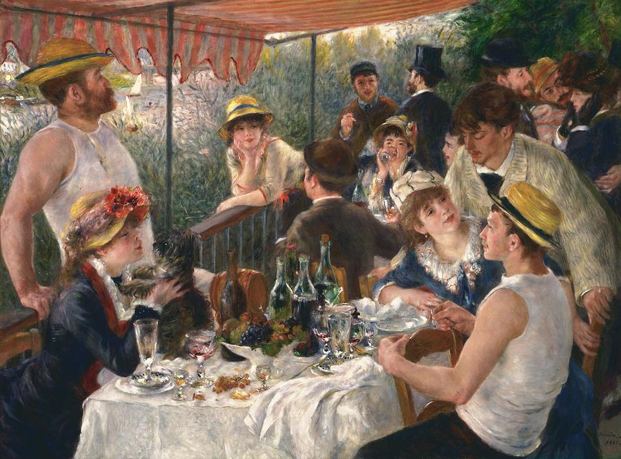 Luncheon Of The Boating Party By Renoir Painting