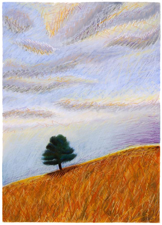 Lone Tree Painting - Lured By Coyotes by Chad Niehaus