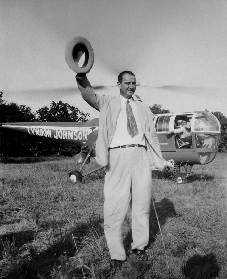 History Photograph - Lyndon Johnson Campaigning by Everett