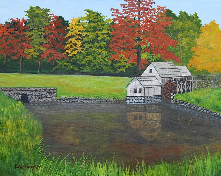 Landscape Painting - Mabry Grist Mill  by Ruth  Housley