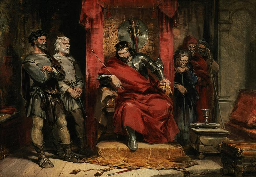 George Painting - Macbeth Instructing The Murderers Employed To Kill Banquo by George Cattermole