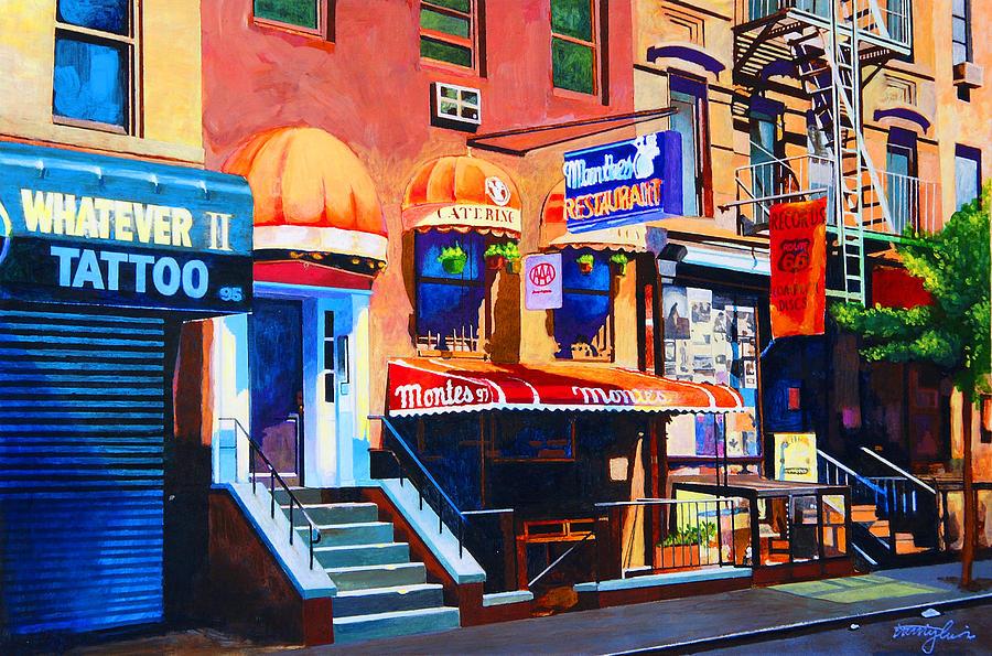Macdougal Street Painting - Macdougal Street by John Tartaglione