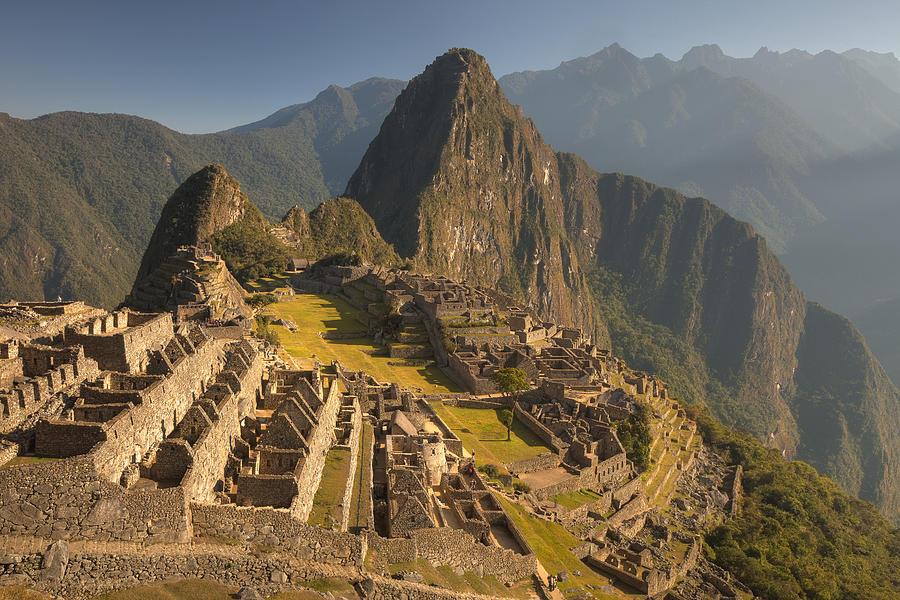00498223 Photograph - Machu Picchu At Dawn Near Cuzco Peru by Colin Monteath