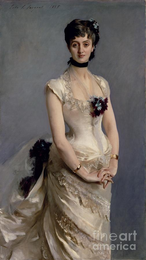Madame Painting - Madame Paul Poirson by John Singer Sargent