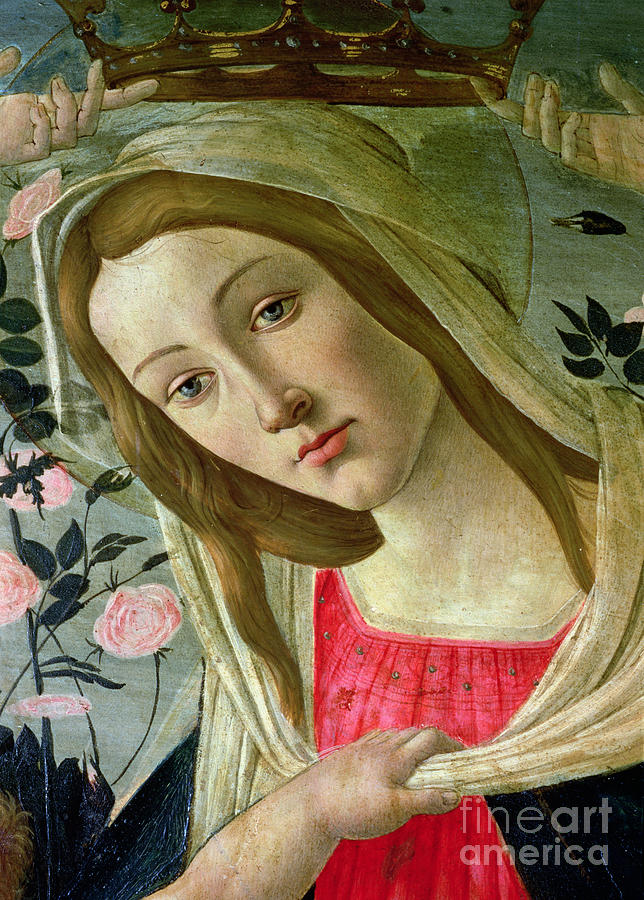 Madonna And Child Crowned By Angels Painting by Sandro ... Botticelli Paintings