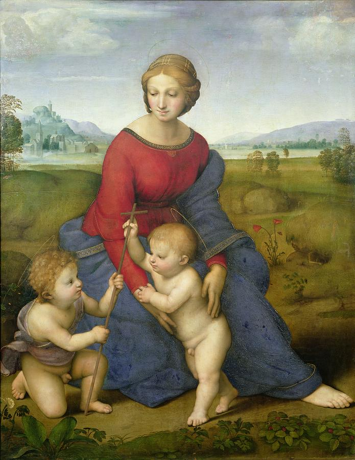 Madonna Painting - Madonna In The Meadow by Raphael