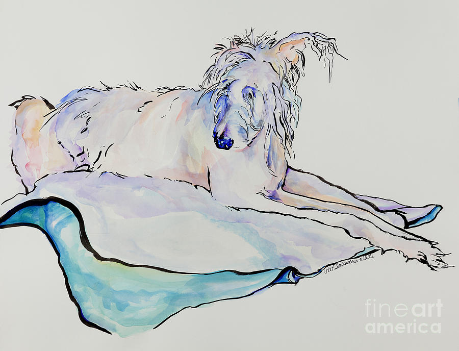 Animal Portrait Painting - Maevis by Pat Saunders-White