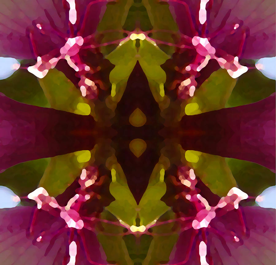 Abstract Painting Digital Art - Magent Crystal Flower by Amy Vangsgard